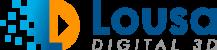 logotipo lousa digital com caneta 3d